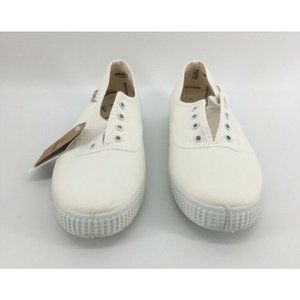 Victoria Womens Sneakers Shoes White Cotton New